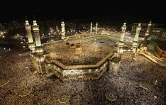 Muslim pilgrims circle the Kaaba at the center of the Grand mosque in Mecca during the annual Hajj pilgrimage How To Perform Hajj, Pilgrimage To Mecca, Mekka, Grand Mosque, Once In A Lifetime, Places To See, The Good Place, City Photo, Youtube