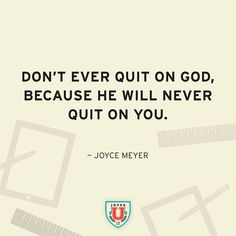 Never quit on God G Words, Cool Words, Spiritual Encouragement, Spiritual Quotes, Everyday Quotes, Daily Quotes, Bible Quotes, Bible Verses, Scriptures