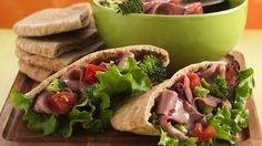 Enjoy flavors of fajita in this tasty beef sandwich – dinner ready in 10 minutes.