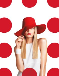 HAT peters/Target-Branding We created a brand campaign that actively deconstructs this iconic graphic identity. Instead of a static symbol, it becomes a rhythmic pattern, and a playful player in the choreography of life. Boutique Marie Claire, Red Dots, Polka Dots, Portrait Photography, Fashion Photography, Rhythmic Pattern, Brand Campaign, Advertising Campaign, Shirt Designs