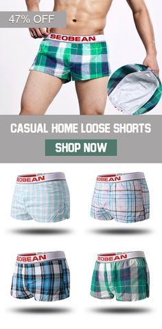 adf3b1ceb5 SEOBEAN Casual Home Arrow Pants Boxers Plaid Loose Widen Waistband Shorts  Underwear is recommended by our customers, buy SEOBEAN Casual Home Arrow  Pants ...