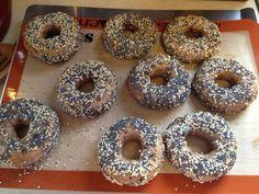 Recipe: Sourdough Rye Everything Bagels - Army Life DIY Wife Sourdough Bagels, Sourdough Recipes, Everything Bagel, Daily Bread, Healthy Baking, Healthy Choices, Doughnut
