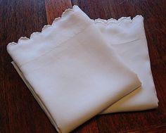 Em's Heart Antique Linens -Antique French Linen Pillowcases