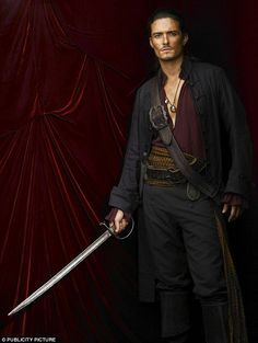 Having sat out the fourth film, Orlando Bloom will soon be back in a new Pirates Of The Caribbean: movie, Salazars Revenge. And since his last appearance as Will Turner he's become a dad. Orlando Bloom, Will Turner, Johnny Depp, Jaime Murray, Bateau Pirate, Warehouse 13, Captain Jack Sparrow, Pirate Life, Raining Men
