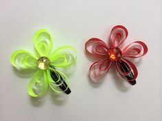 DIY Ribbon Flower Hair Clips
