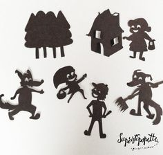 Peignez toutes les marionnettes en noir