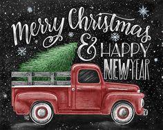 ♥ Merry Christmas & Happy New Year ♥ ♥ L I S T I N G ♥ elke afbeelding is oorspronkelijk hand getekend met krijt en digitaal geconverteerd. Schoolbord prenten handhaven de authenticiteit en de stof van de oorspronkelijke tekening natte gratis. Alle prints zijn gedrukt op diep Matte
