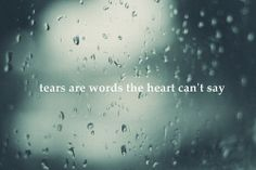 tears are the unspoken words. Truth.