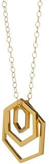 Nesting Hexagon 2017 trend gold Necklace #goldjewelry