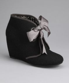 Black Felt Hooey Bootie | Daily deals for moms, babies and kids
