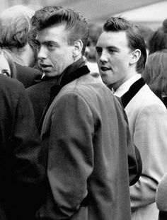 An poster sized print, approx (other products available) - Teddy Boys at a Rock and Roll concert at Wembley. - Image supplied by PA Images - poster sized print mm) made in Australia Teddy Boys, Teddy Girl, Teddy Boy Hair, Teddy Boy Style, Rockabilly, Fine Art Prints, Canvas Prints, Youth Culture, National Photography