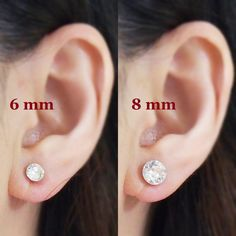 Crystal Swarovski Invisible Clip On Earrings, Non Piered Earrings, Swarovski Clip On Stud Earrings, Bridal Clip Earrings, Wedding Clip-ons 💕💕 Why do you need invisible clip on earrings for your events? 💕💕 1) Comfortable to wear ➡ You will forget that you wear clip on earrings during your events. So you can smile and enjoy the events.   2) Pierced look: You can have a perfect look. ➡ Since invisible clip on earring findings are clear, so they seem pierced earrings. So if you have photo…