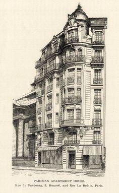 An apartment house on Rue du Faubourg St. Honore, Paris
