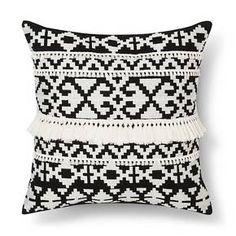 Make some pillow covers from thrifted men's sweaters. Throw Pillow Black & White Tassel - Threshold™ : Target