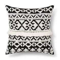 Throw Pillow Black & White Tassel - Threshold™ : Target