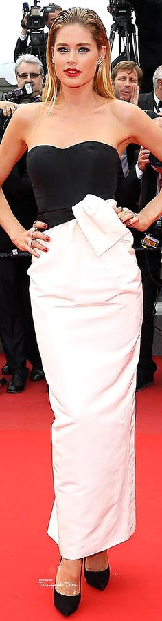 #Doutzen #Kroes in Dior Vintage Couture ♔ Cannes Film Festival 2015 Red Carpet ♔ Très Haute Diva ♔