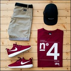 Shorts are modern piece of menswear that should be included in every man's wardrobe. Here is your men's short style inspiration guide - weekend style ideas. Nike Fashion, Boy Fashion, Fashion Outfits, Mens Fashion, Fashion Shoes, Fashion Menswear, Style Fashion, Fashion Online, Mode Masculine