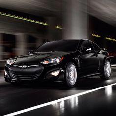2013 Hyundai Genesis Coupe.  Black.  3.8 L V6 (348 HP).