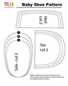 Reversible Baby Shoe :: Tutorial and Images of Baby Shoe Pattern Template Baby Moccasin Pattern, Baby Shoes Pattern, Shoe Pattern, Baby Patterns, Boys Sewing Patterns, Baby Sewing Projects, Sewing For Kids, Baby Shoes Tutorial, Diy Bebe