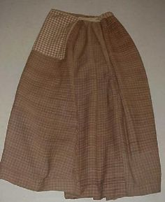 19thC Pa Women's Linsey ~ Woolsey