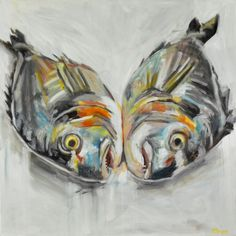 Twin Fish, two bream eye to eye 80 x oil on canvas Organic Form, Gcse Art, Fish And Chips, Natural Forms, Art Images, Oil On Canvas, Twin, Paintings, Mood