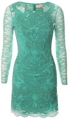 Matthew Williamson  Minted Mayhem Rainbow Lace Long Sleeve Dress     dressmesweetiedarling