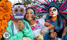 San Diego, CA ~ Jacob's Center for Neighborhood Innovation and Teatro Izcalli present a traditional Día de los Muertos celebration with performance by Quetzal and traditional native dances on November 1, 2015 at Market Creek Amphitheater.