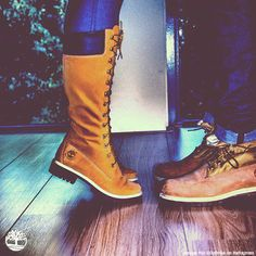 I'm in love with these boots... Every woman I see wearing them always think I'm crazy just staring  #boots #Timberland