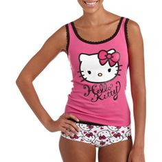 Juniors Hello Kitty Tank and Hipster Panty Set10.97