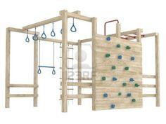 Wooden jungle gym