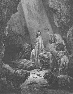 biblical engravings | ... Lion's Den Holy Land Jewish Antique Art Print 1800s Engraving | eBay