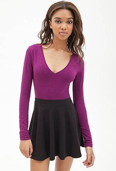 V-Neck Knit Top | FOREVER21 - 2000067232