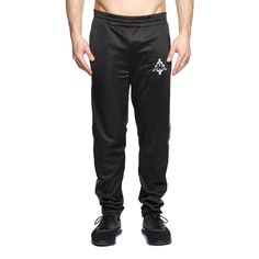 Kappa track pants from the F/W2017-18 Marcelo Burlon County of Milan collection in black