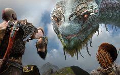 Scarica sfondi God of War 4, 4k, Kratos, 2018 film, mostro