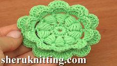Сrochet Puff Stitch Double Layered Flower Tutorial 92