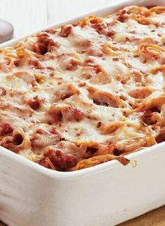 Low FODMAP Recipe and Gluten Free Recipe - Tomato & mozzarella spaghetti bake