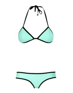 CHLOE NEOPRENE BIKINI IN PASTEL NEON MINT: Miami Mint. Love this bathing suit! want one in every color.