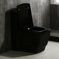 WoodBridge Dual Flush Elongated One-Piece Toilet (Seat Included) Black Toilet, Wax Ring, Toilet Sink, Wall Hung Toilet, Wood Bridge, Toilets, Floor Chair, Home Improvement, One Piece