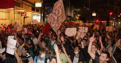 Manifestação em Niterói