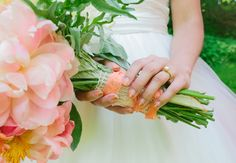 Gold and Peach Ombre Manicure | Lauren Fair Photography | Blog.TheKnot.com