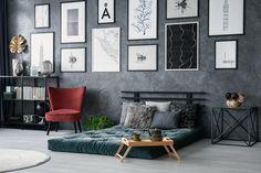 #lakberendezes #otthon #otthondekor #homedecor #homedecorideas #homedesign #furnishings #design #furnishingideas #housedesign #livingroomideas #livingroomdecorations #decor #decoration #interiordesign #interiordecor #interiores #interiordesignideas #interiorarchitecture #interiordecorating#homedecoration #homedecorationideas #homedecorideas #homedecorlivingroom #homedesigning #homedesignhomeideas #homeinteriordesign #homefurnishings Grey Bedroom Furniture Sets, Bedroom Table, Cozy Bedroom, Modern Bedroom, Bedroom Black, Living Room Grey, Living Room Interior, Living Rooms, Red Armchair