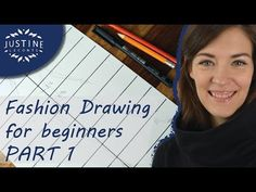 (34) How to draw: a woman body / fashion figure | Fashion drawing for beginners #2 | Justine Leconte - YouTube