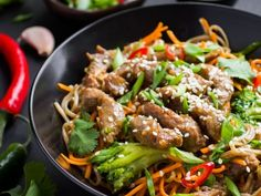 Boeuf croustillant Asian Recipes, Beef Recipes, Cooking Recipes, Ethnic Recipes, Yummy Recipes, Good Food, Yummy Food, Air Fryer Recipes, International Recipes