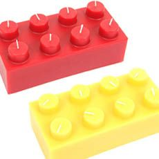 "LEGO "" like"" CANDLE....  Not a Lego product was sold at Kmart $40+ huge candle wick area is votive candle size. WOW!!"
