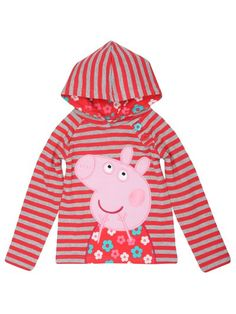Peppa Pig striped hood Abby loves peppa