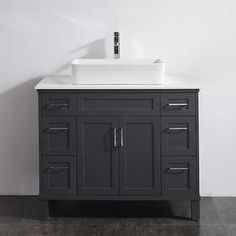 Studio Bathe   Kalize 36 French Grey Single Vanity With Mirror