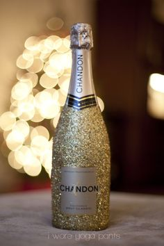 Glitter Champagne Bottle Tutorial
