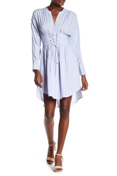 Corseted Long Sleeve Dress by ASTR the Label on @HauteLook