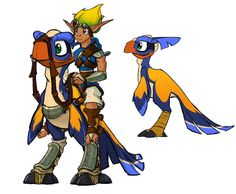 View an image titled 'Flut Flut Art' in our Jak & Daxter: The Precursor Legacy art gallery featuring official character designs, concept art, and promo pictures. Jack And Daxter, Character Art, Character Design, Jak & Daxter, Cartoon Video Games, Creature Design, Traditional Tattoo, Game Art, Art Reference