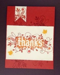 Seasonally Scattered Thanks Fall Autumn card CAS Stampin Up Handmade